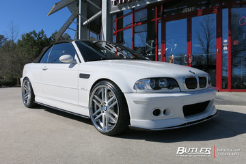 BMW M3 with 20in TSW Rouen Wheels