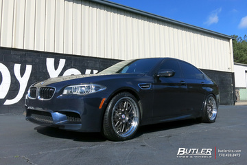 BMW M5 with 20in HRE 540C Wheels