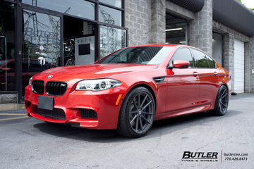 BMW M5 with 20in TSW Bathurst Wheels