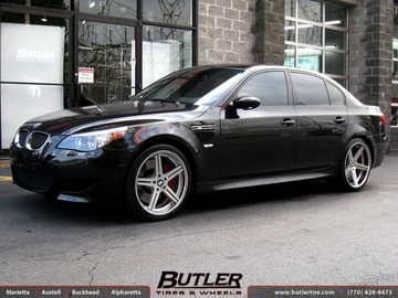 BMW M5 with 20in TSW Mirabeau Wheels