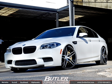 BMW M5 with 21in Lexani LZ-105 Wheels
