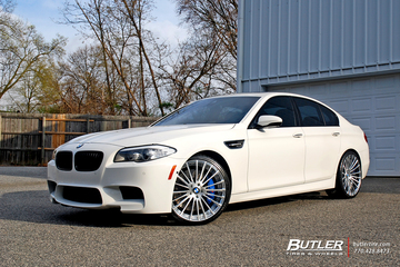 BMW M5 with 21in Savini SV61d Wheels