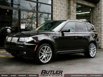 BMW X3 with 20in Niche Targa Wheels
