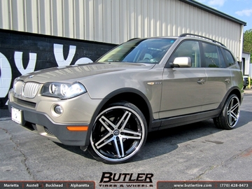 BMW X3 with 22in Lexani R-Five Wheels
