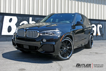 BMW X5 with 22in Asanti CX811 Wheels