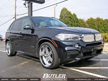 BMW X5 with 22in Beyern Wolf Wheels