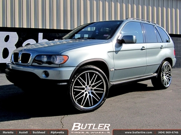BMW X5 with 22in Lexani CVX 44 Wheels