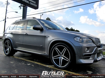 BMW X5 with 22in Lexani R-Five Wheels