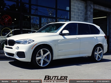 BMW X5 with 22in Niche Milan Wheels