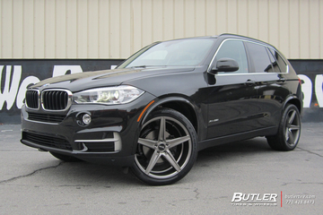 BMW X5 with 22in Savini BM8 Wheels