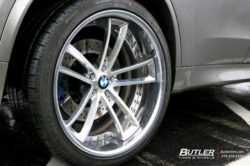 BMW X5 with 22in Savini SV51c Wheels