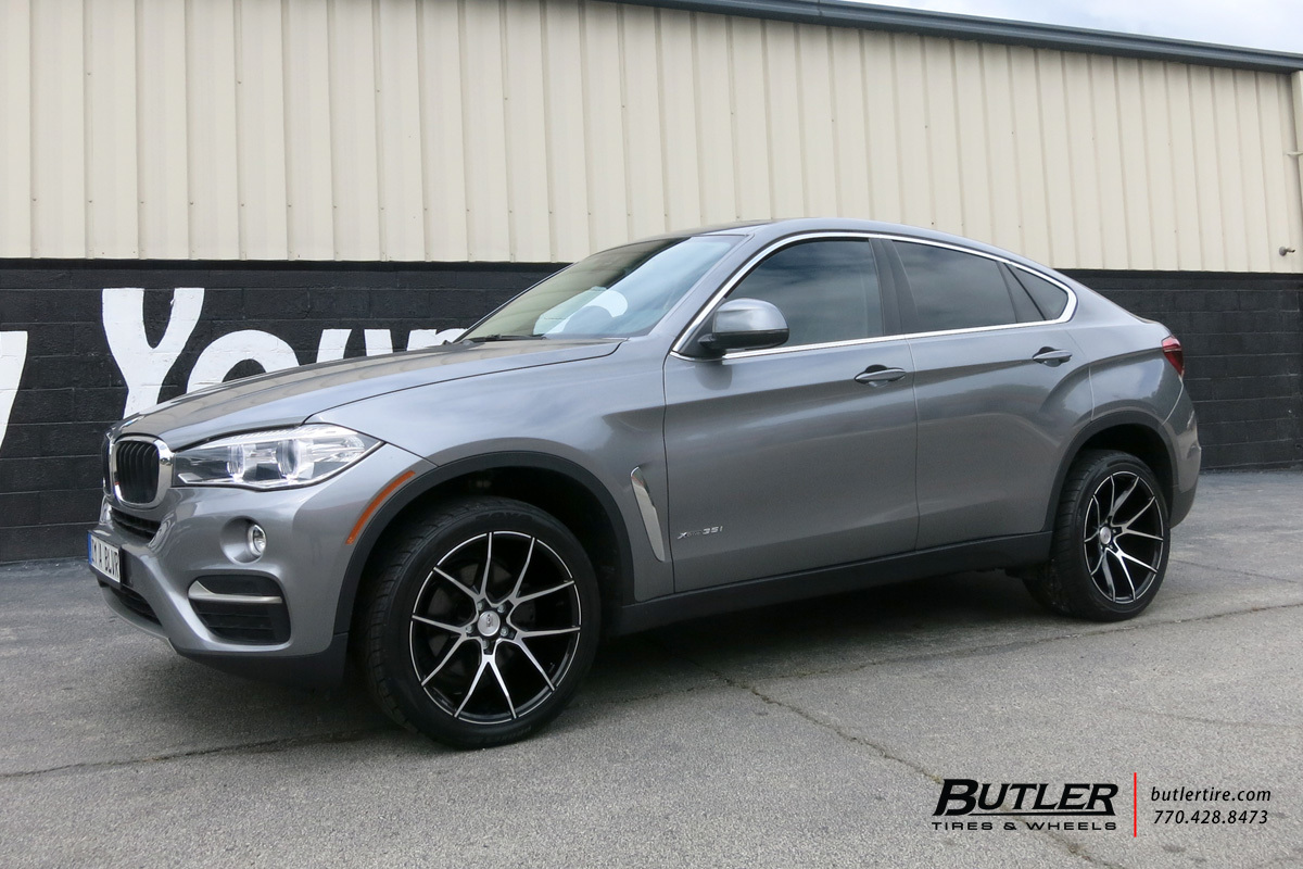 BMW X6 with 20in Savini BM14 Wheels