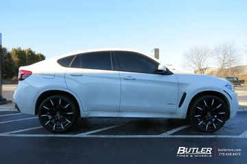 BMW X6 with 22in Lexani CSS15 Wheels
