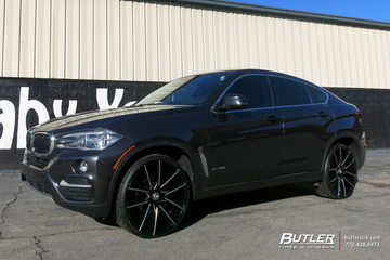 BMW X6 with 22in Lexani Gravity Wheels