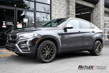 BMW X6 with 22in Savini SV-F2 Wheels