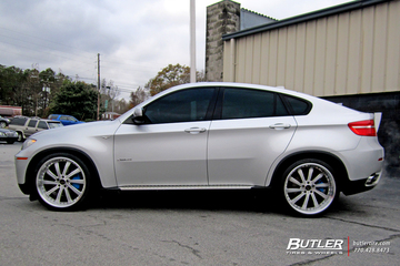 BMW X6 with 22in Vellano VTV Wheels