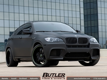 BMW X6M with 22in Savini SV23c Wheels