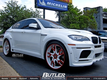 BMW X6M with 24in Forgiato Basamento Wheels