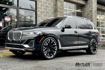 BMW X7 with 24in Vossen HF-2 Wheels