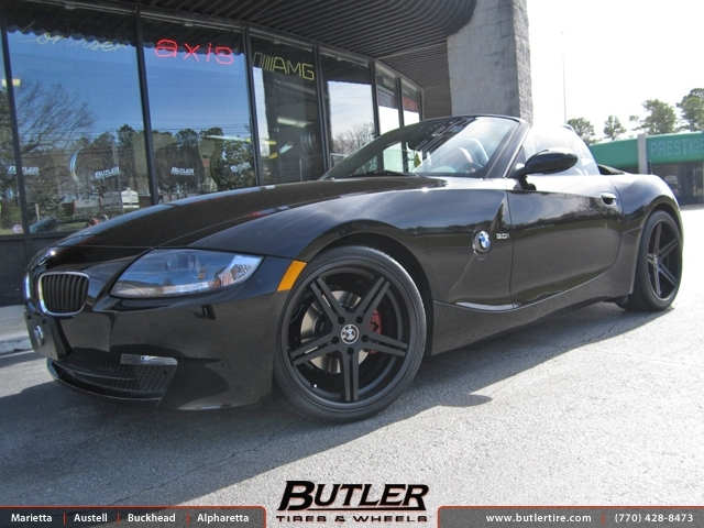 BMW Z4 with 19in TSW Mirabeau Wheels
