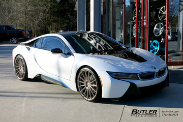 BMW i8 with 22in Avant Garde M615 Wheels