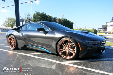 BMW i8 with 22in Avant Garde M632 Wheels