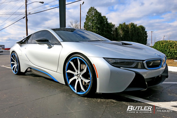 BMW i8 with 22in Forgiato Fondare ECL Wheels