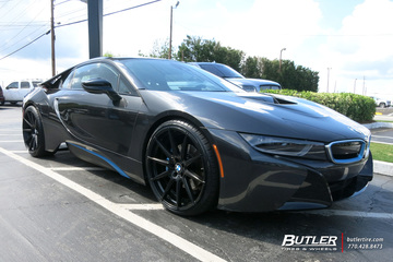 BMW i8 with 22in Niche Essen Wheels