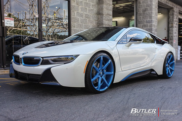 BMW i8 with 22in Savini BM10 Wheels