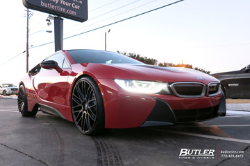 BMW i8 with 22in Savini BM13 Wheels