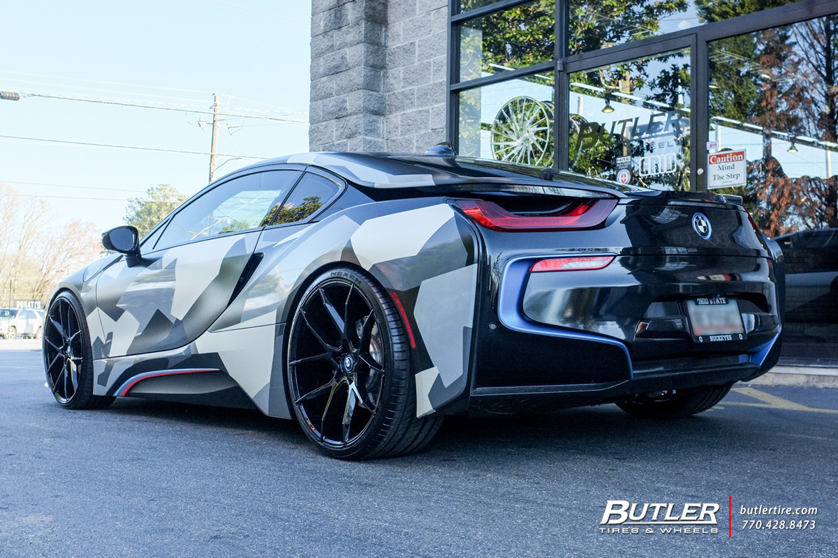 Bmw I8 With 22in Savini Bm14 Wheels Exclusively From
