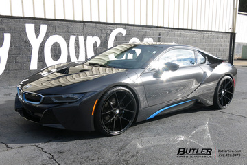 BMW i8 with 22in Savini BM14 Wheels