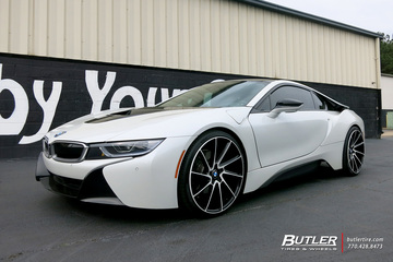 BMW i8 with 22in Savini BM15 Wheels
