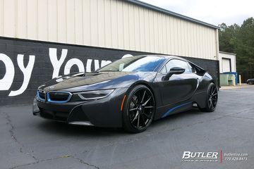 BMW i8 with 22in Savini SV-F 4 Wheels