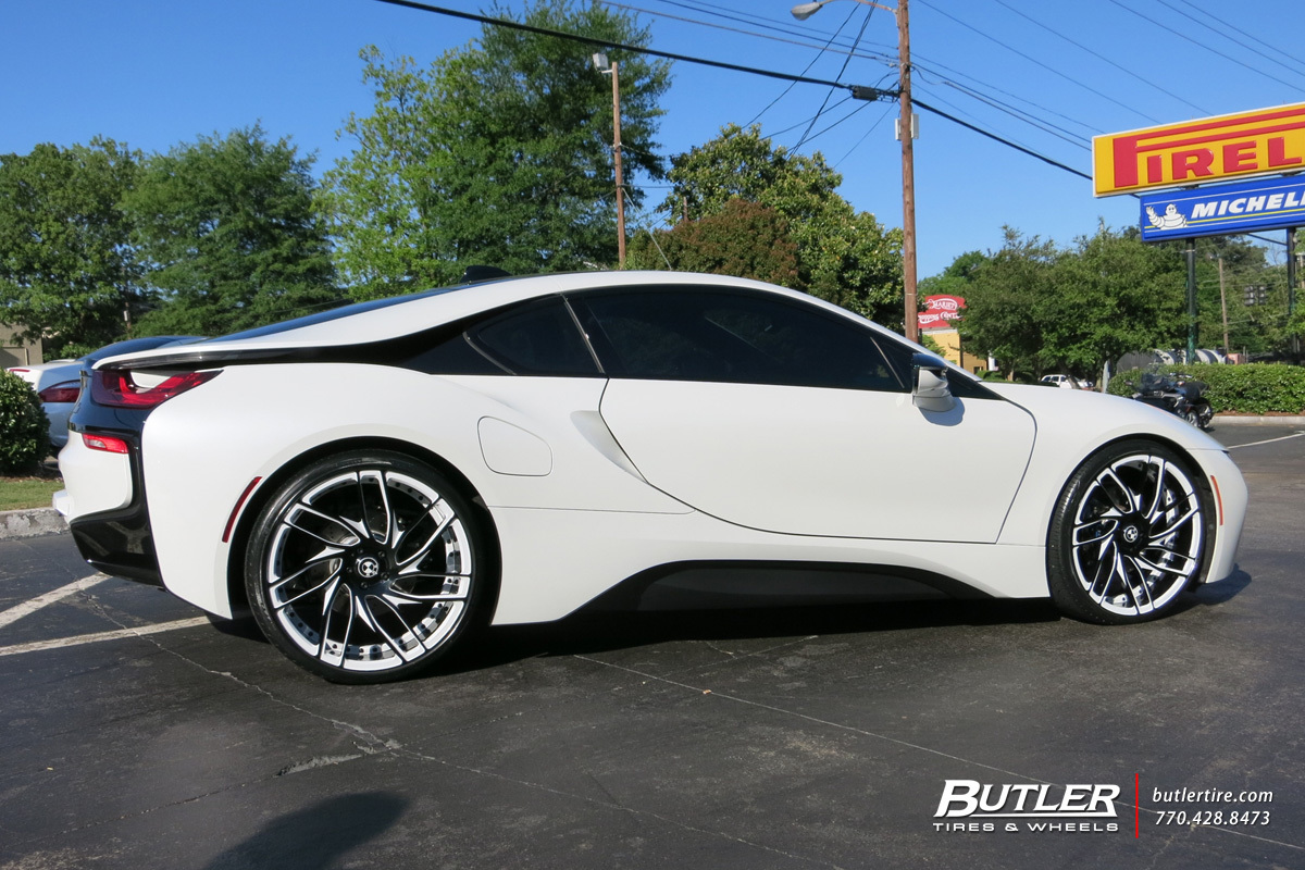 Bmw I8 With 22in Savini Sv62c Wheels Exclusively From