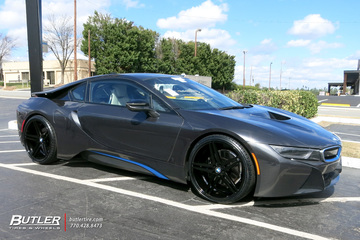 BMW i8 with 22in Verde Parallax Wheels