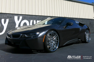 BMW i8 Roadster with 22in Savini SV49c Wheels