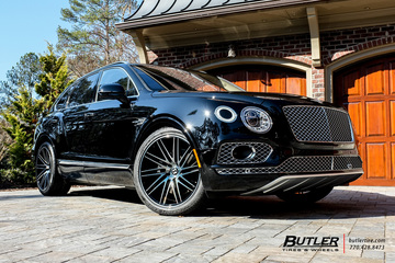 Bentley Bentayga with 22in Vossen VPS-307T Wheels