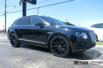 Bentley Bentayga with 24in Avant Garde AGL-Vanguard Wheels