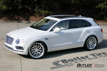 Bentley Bentayga with 24in Savini SV65d Wheels