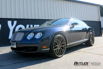 Bentley Continental-GT with 22in Savini SV-F 2 Wheels