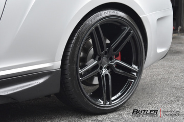 Bentley Continental-GT with 22in Vossen HF-1 Wheels