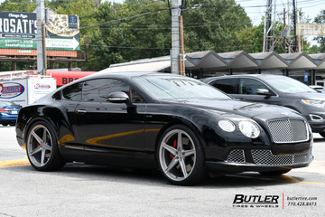 Bentley Continental-GT with 22in Vossen M-X5 Wheels