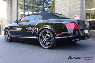 Bentley Continental GT-C with 22in Lexani LF705 Wheels