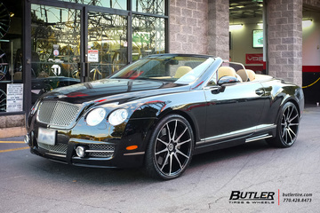 Bentley Continental GT-C with 22in Savini BM12 Wheels