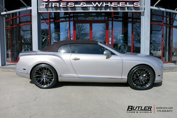 Bentley Continental GT-C with 22in Savini SV-F 2 Wheels
