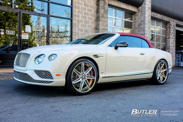 Bentley Continental GT-C with 22in Savini SV58c Wheels