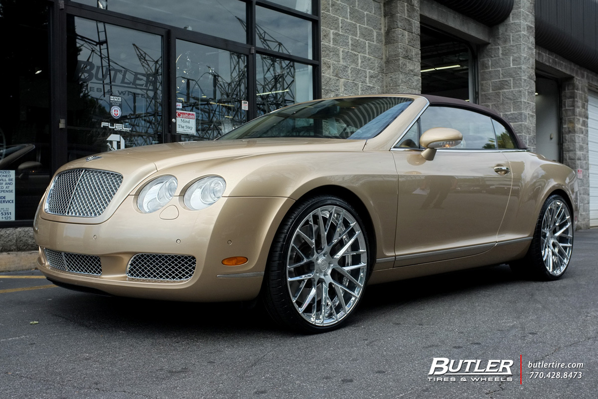 Bentley Continental GT-C with 22in Savini SV65d Wheels