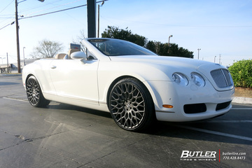 Bentley Continental GT-C with 22in TSW Oslo Wheels