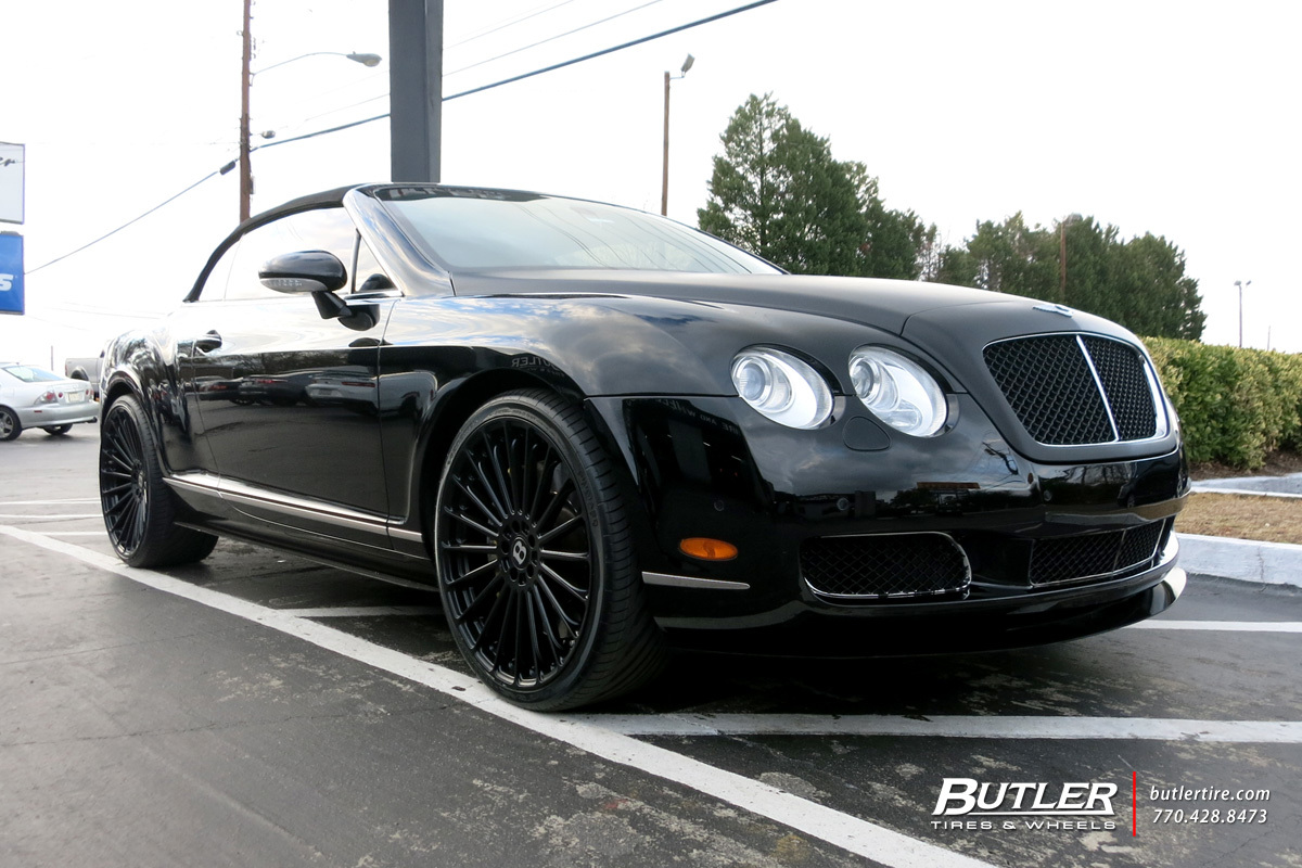 Bentley Continental GT-C with 22in TSW Turbina Wheels